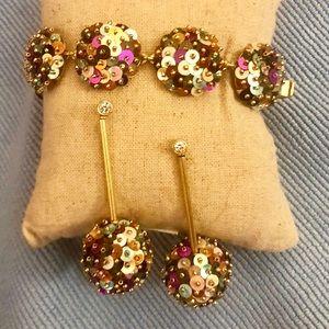 Stella & Dot Confetti Bracelet & Earring Set